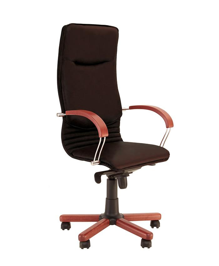 Шкіряне крісло керівника Nova (Нова) wood SP, LE
