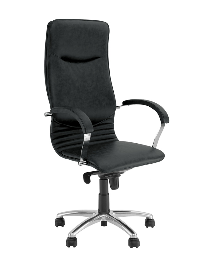 Кожаное кресло для директора Nova (Нова) steel chrome comfort SP, LE