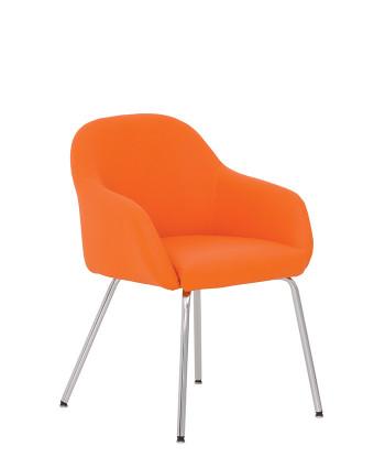 Кресло для зон ожидания Wait (Вейт) 4L chrome V, ECO