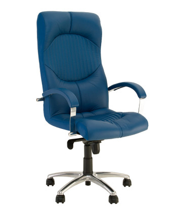 Крісло в кабінет керівника Germes (Гермес) steel chrome