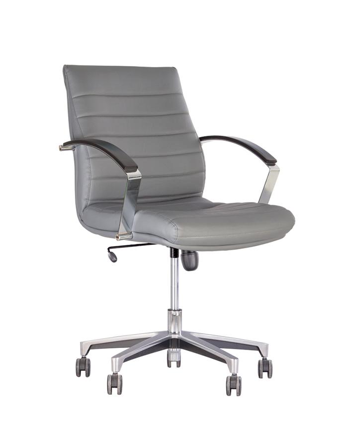 Кожаное кресло руководителя Iris (Ирис) Steel LB Chrome LE