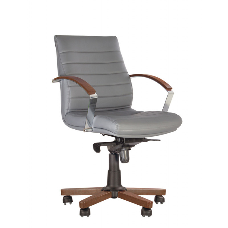 Шкіряне крісло для директора Iris (Ірис) Wood EX LB Multiblock LE