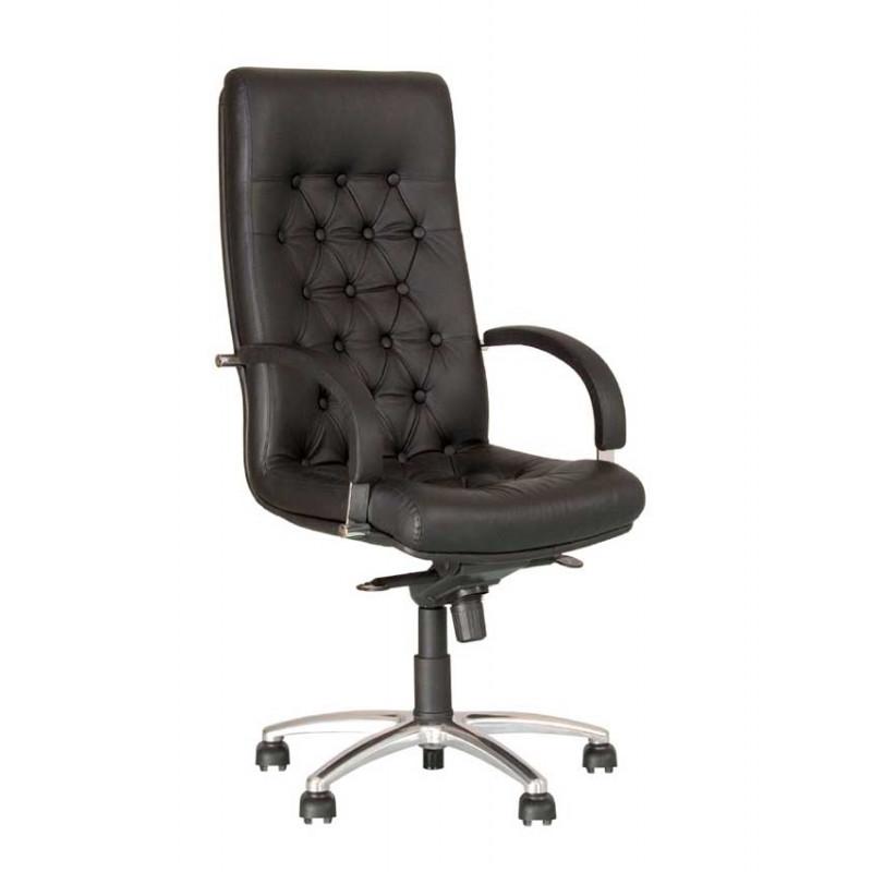 Шкіряне крісло керівника Fidel (Фідель) steel chrome
