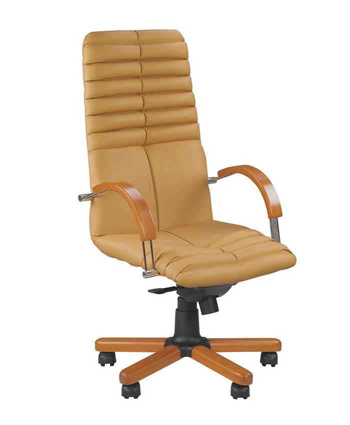 Кресло для директора Galaxy (Гелакси) wood chrome