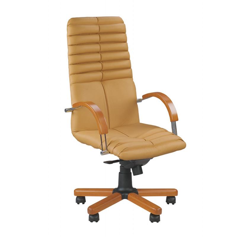 Крісло для директора Galaxy (Гелаксі) wood chrome