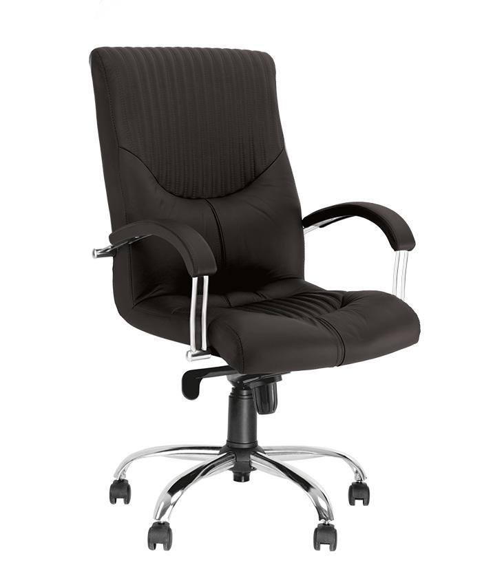 Крісло керівника Germes (Гермес) steel LB chrome comfort