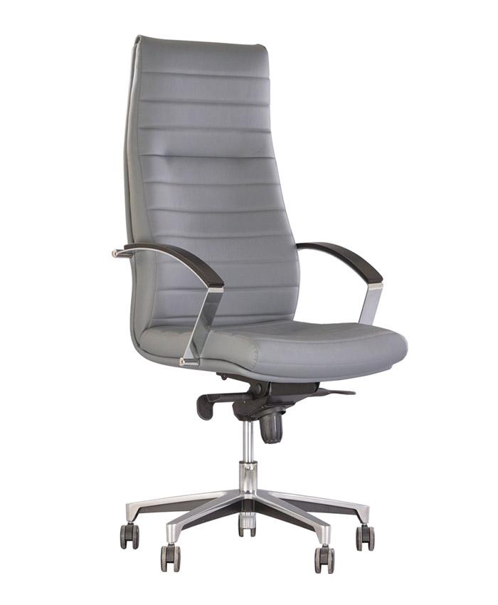Кожаное кресло руководителя Iris (Ирис) Steel Chrome LE