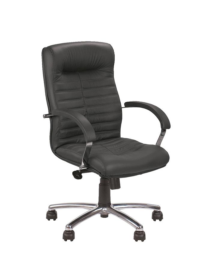 Кожаное кресло руководителя Orion (Орион) LB steel chrome SP, LE