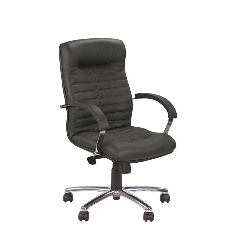 Шкіряне крісло керівника Orion (Оріон) LB steel chrome SP, LE