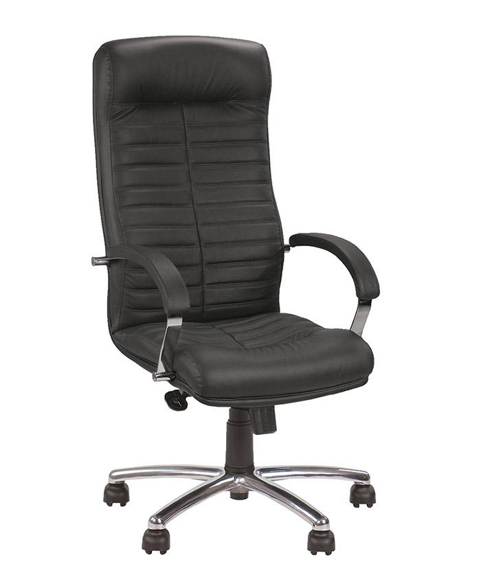 Кожаное кресло руководителя Orion (Орион) steel chrome comfort SP, LE