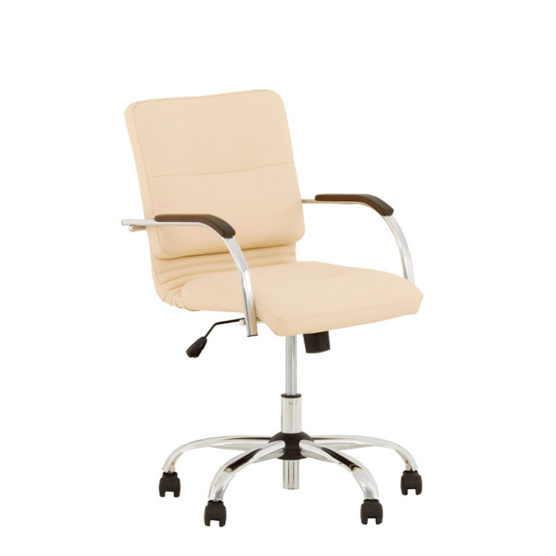 Кожаное компьютерное кресло Samba (Самба) ultra GTP chrome LE