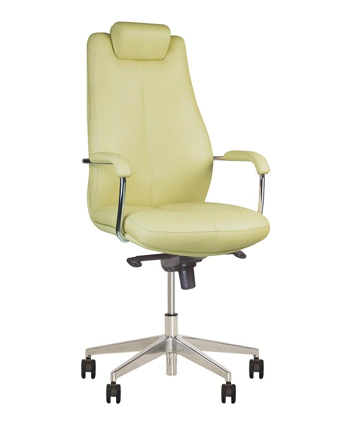 Кожаное кресло руководителя Sonata (Соната) steel chrome LE