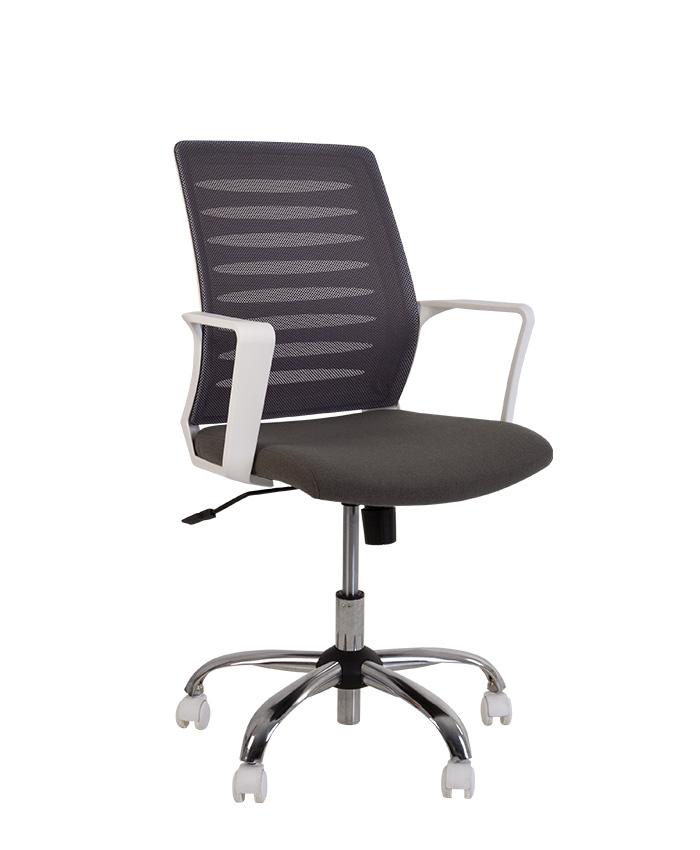 Крісло комп'ютерне Webstar (Вебстар) white chrome