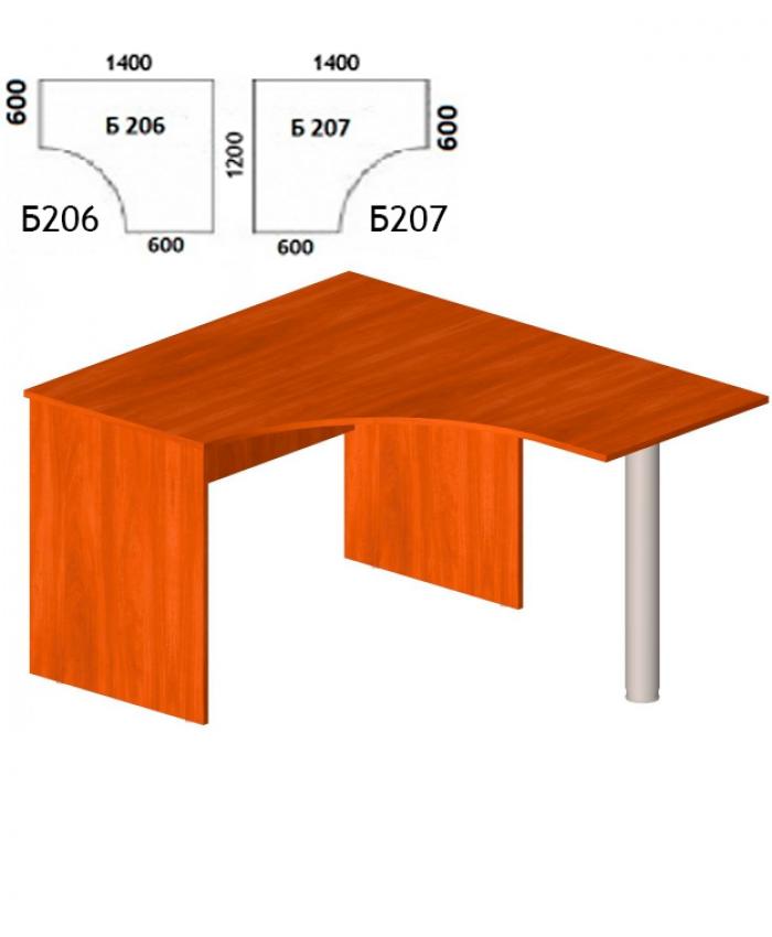 Угловой письменный стол Б-206, 207