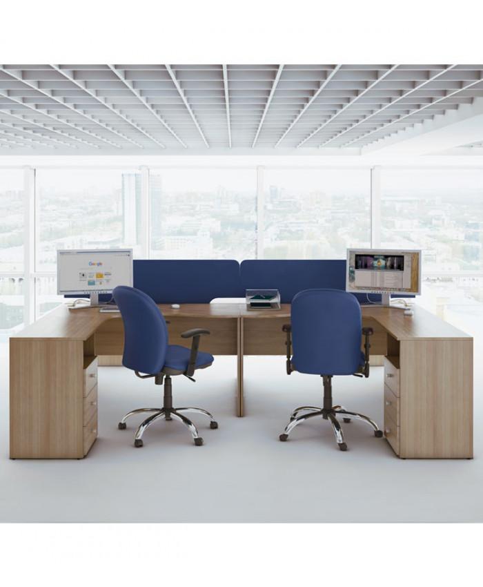 Мебель для персонала Bazis (Базис) №1 (2 рабочих места)