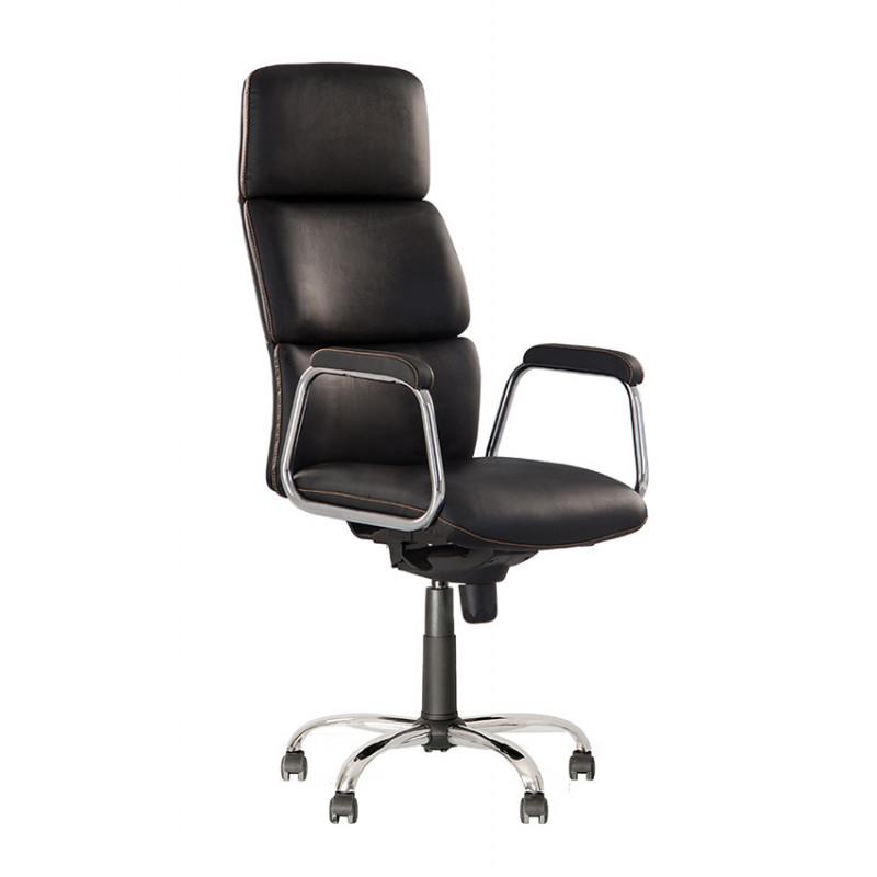 Шкіряне крісло керівника California (Каліфорнія) steel chrome comfort LE