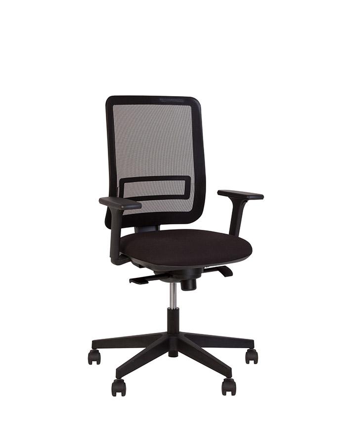 Крісло комп'ютерне Smart (Смарт) R net black KL