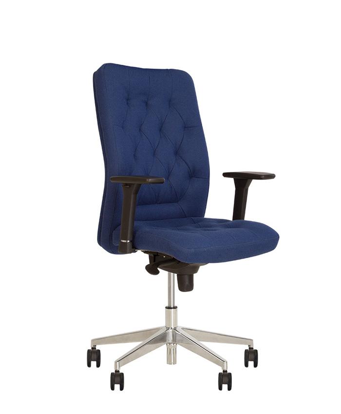 Кожаное кресло руководителя Chester (Честер) R steel chrome LE