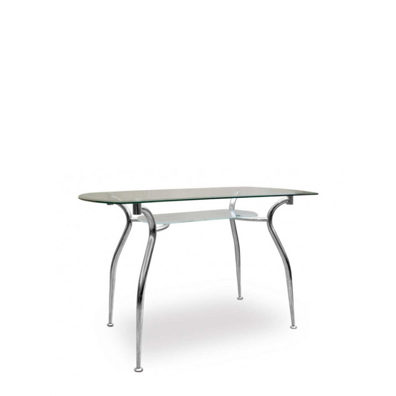 Обідній стіл зі стільницею і полицею Cristal (Кристал)