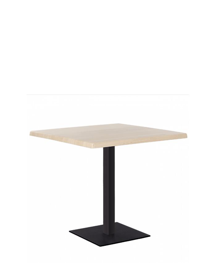 Обеденный стол Tetra (Тетра) black/alu