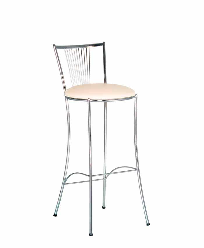 Барний стілець Fosca (Фоска) hocker chrome
