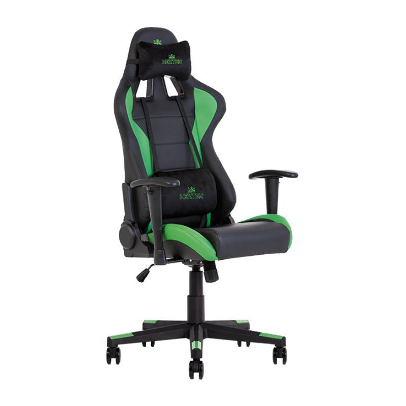 Геймерське крісло Hexter (Хекстер) ML R1D TILT PL70 01 black/green