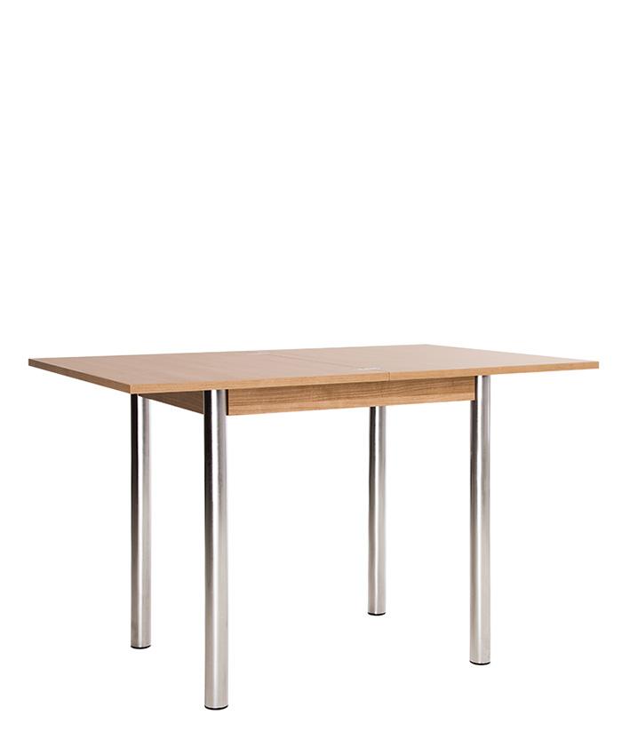 Раскладной обеденный стол Kaja (Кайя) EXT (black/chrome)