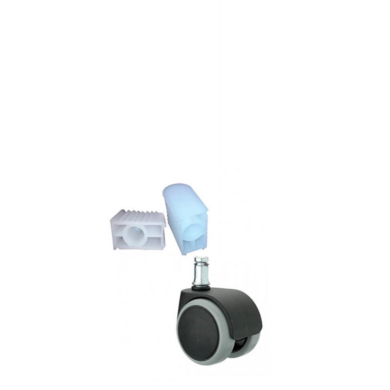 Ролики FI 11 тип H + заглушки FI 11(20х40)