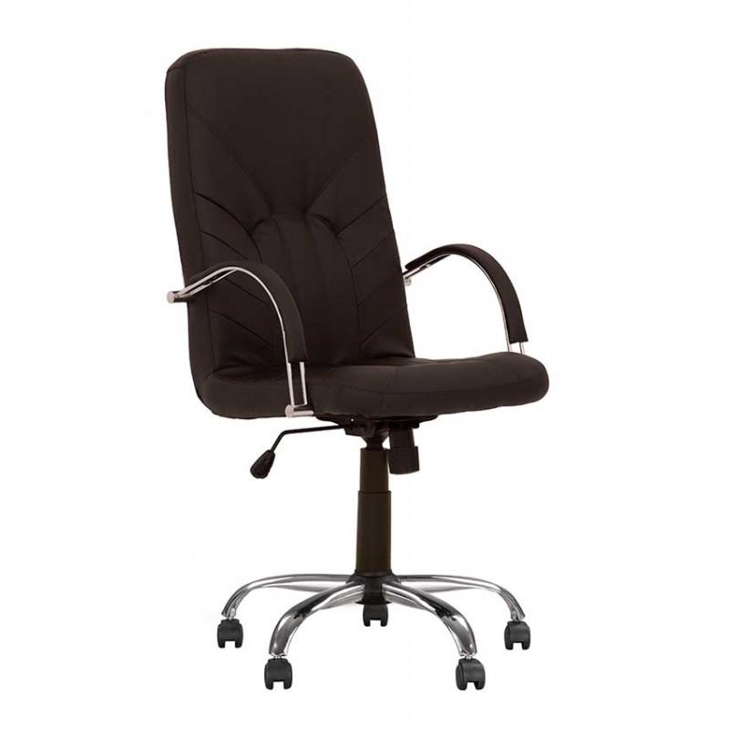 Крісло керівника Manager (Менеджер) steel chrome comfort Tilt/Anyfix