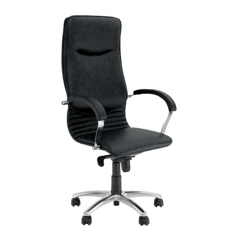 Кресло в кабинет руководителя Nova (Нова) steel chrome