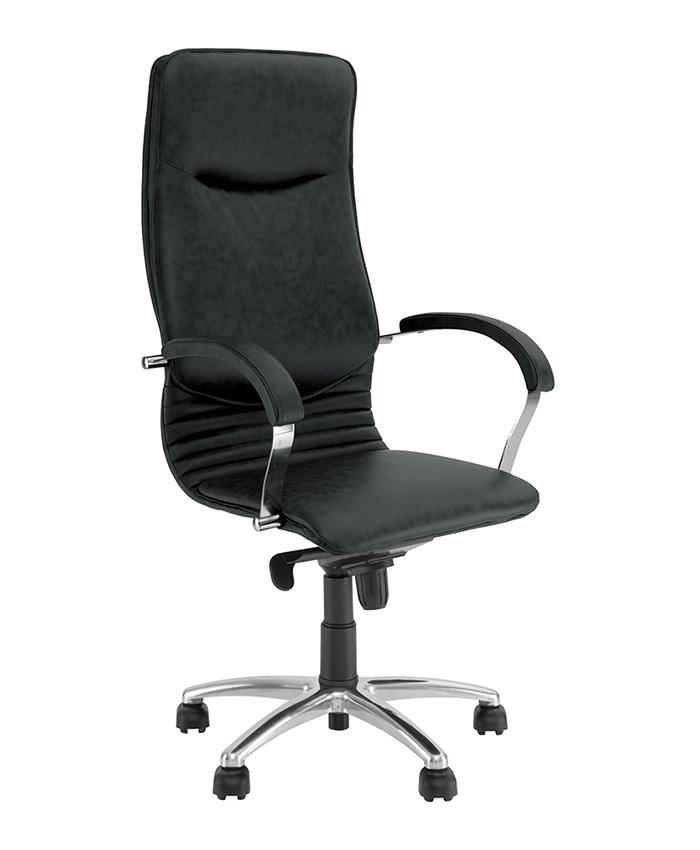 Кожаное кресло руководителя Nova (Нова) steel chrome SP, LE