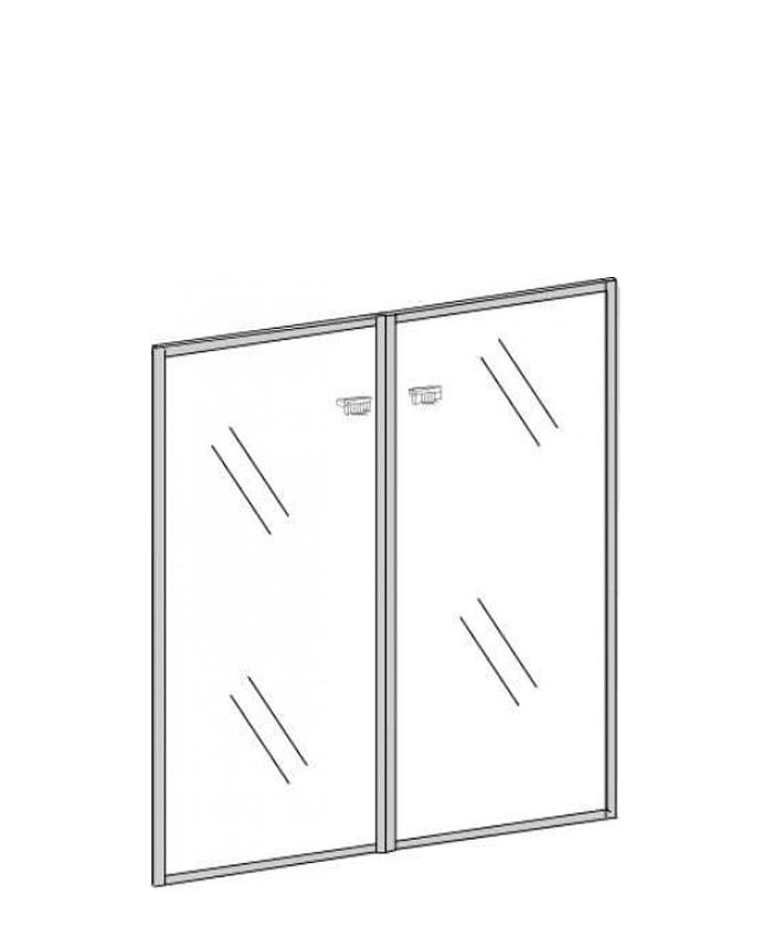 Двері скляні П-802