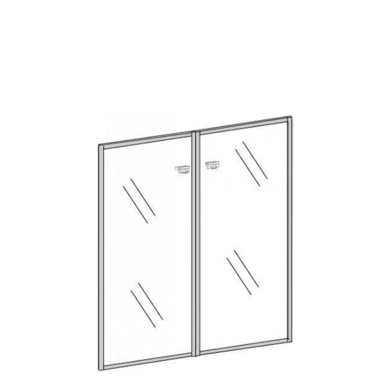 Двери стеклянные П-802