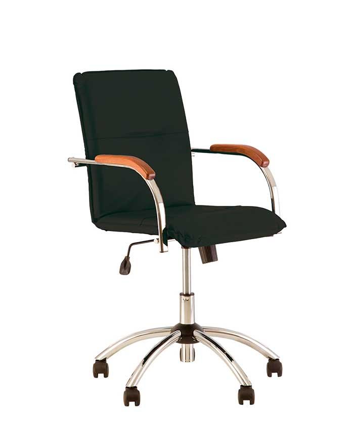 Шкіряне комп'ютерне крісло Samba (Самба) GTP chrome SP, LE