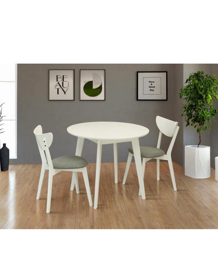 Стіл обідній круглий Модерн білий