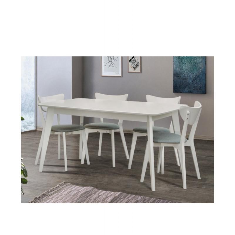 Розкладний обідній стіл Модерн білий