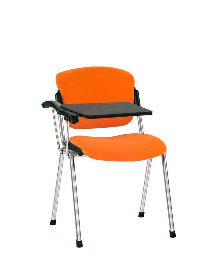 Офисный стул для посетителей Era (Эра) T chrome/black