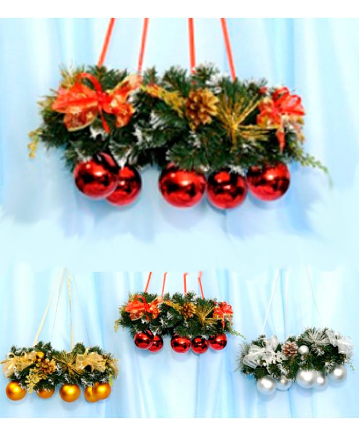 Новогодний декор Венок подвесной