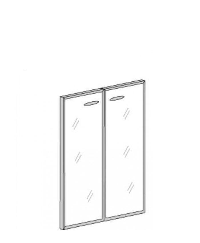 Двері скляні в алюмінієвому профілі Bp.РСО-12